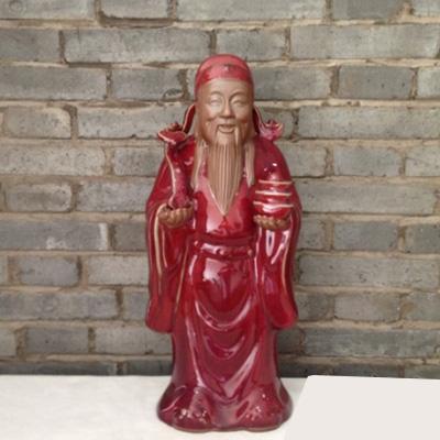 九州钧窑财神-禹州钧瓷-钧瓷神像
