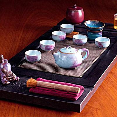 红远钧窑石瓢壶(套装2)
