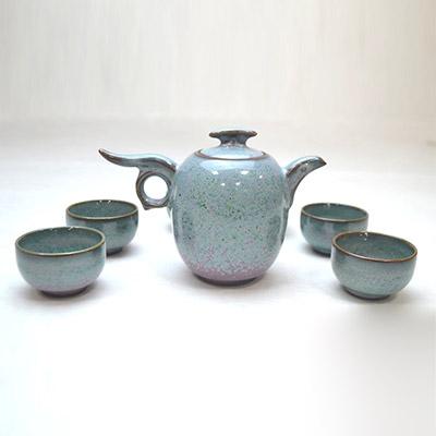 钧瓷钧瓷茶壶套装-云壶价格-红远钧窑钧瓷茶壶套装-云壶