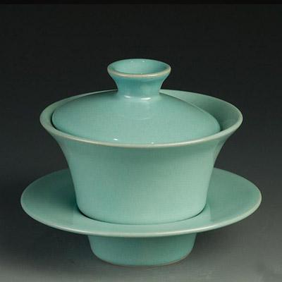 盖碗-卢钧窑盖碗:钧瓷天青·天元托盏
