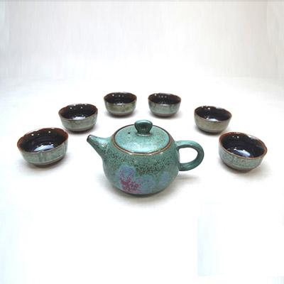 垕彩实业圆满壶-养生钧瓷茶具