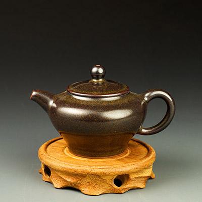 钧瓷茶叶末釉将军壶-白胜利价格-茗钧堂茶叶末釉将军壶-白胜利