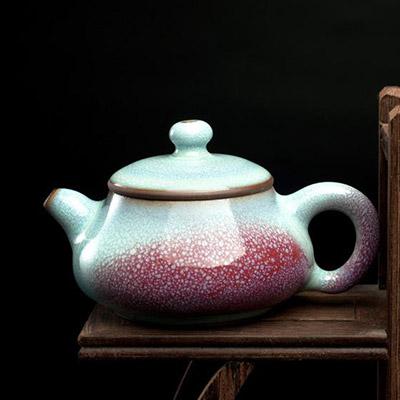 佛珠壶:红远钧窑