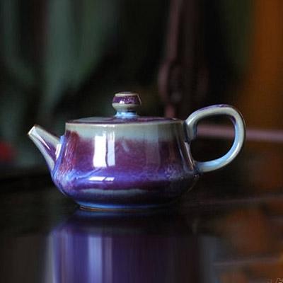 小茶壶-孔家钧瓷