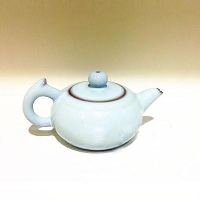 垕彩实业天青釉茶壶