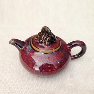 茗钧堂钧瓷茶壶