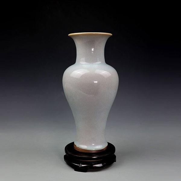 观音瓶-杨文杰大师手拉坯煤烧观音瓶/釉如白玉
