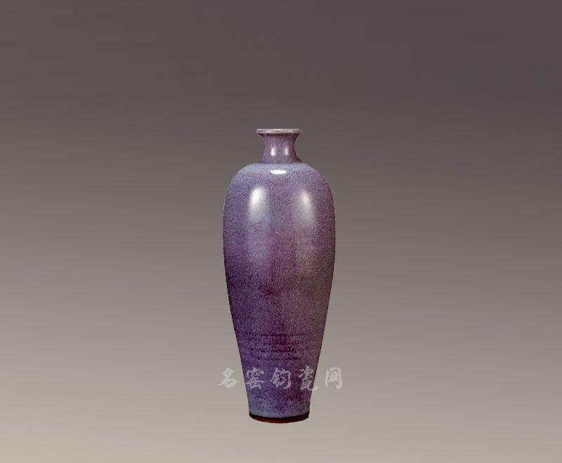 当代钧窑梅瓶,刘福安
