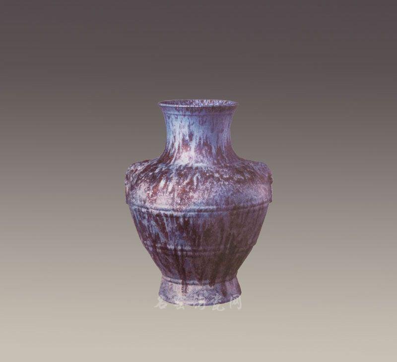 清雍正  炉钧釉辅首耳壶,现藏北京故宫博物院