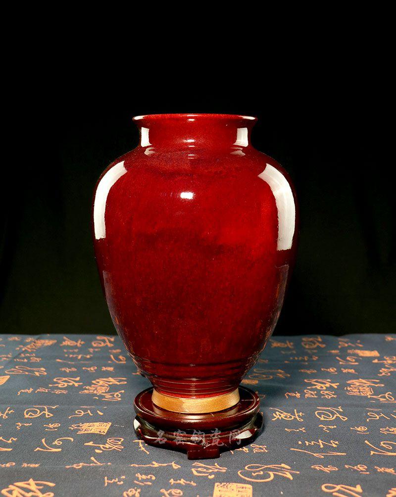 钧瓷玄纹罐,经典钧红釉,庄重大方