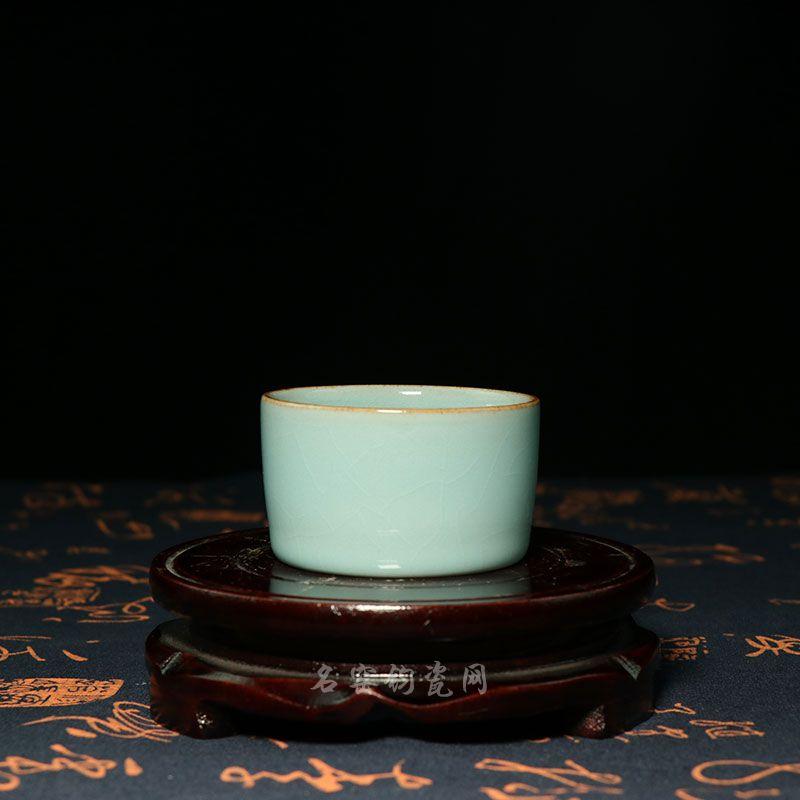天青釉玄纹单杯