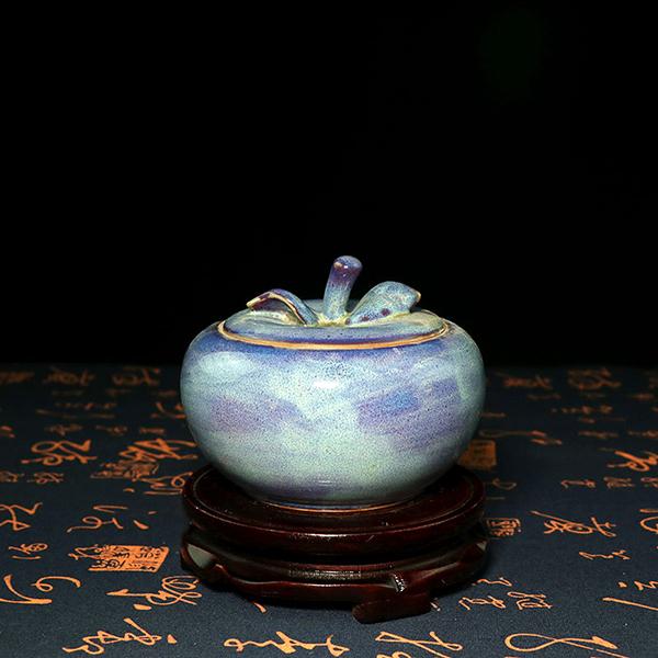 茶叶罐-小苹果造型开盖茶叶罐