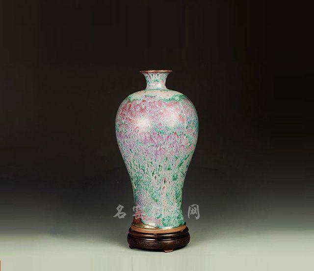 钧瓷柴烧梅瓶