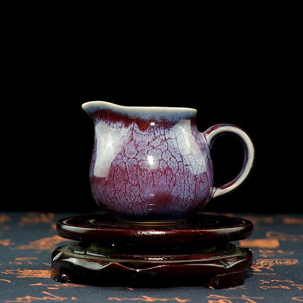 公道杯-钧瓷茶海/窑变紫红色公道杯/分茶器