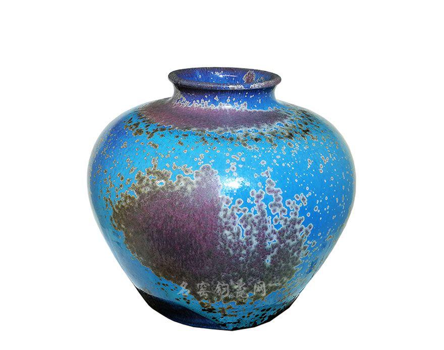 钧瓷罐,炉钧工艺,古朴典雅,绚丽多姿