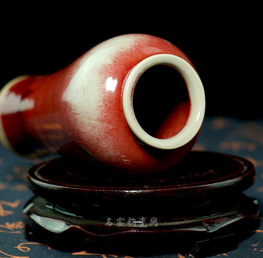 钧瓷花插-钧红釉象腿瓶价格-垕彩实业花插-钧红釉象腿瓶