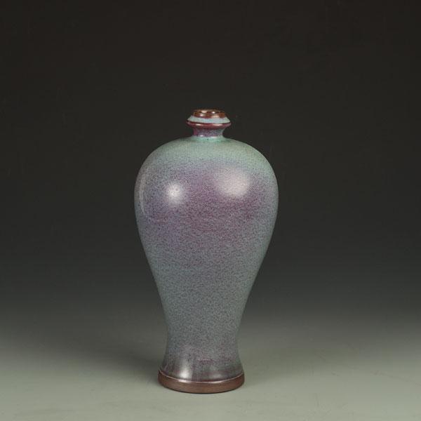 元丰钧窑传统炉钧手拉坯小梅瓶