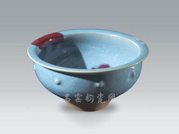 刘国安钧瓷鼓钉钵
