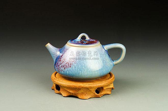 石瓢壶|白胜利钧瓷壶