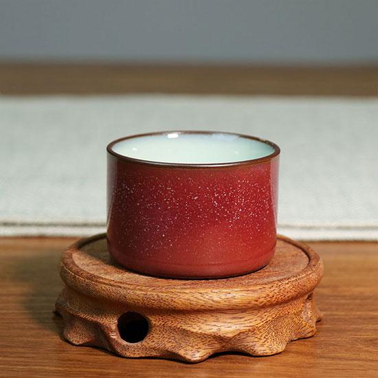 直口杯-自然窑变单杯星辰/三味瓷屋支钉烧圈足满釉直口杯