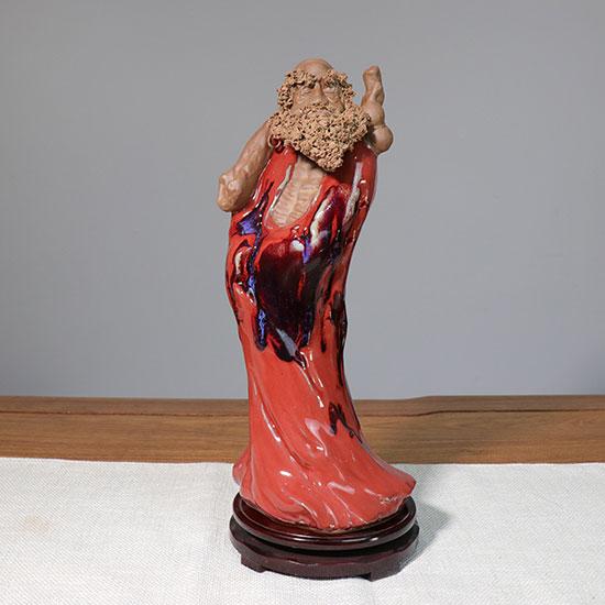 省陶瓷艺术大师高自文手工达摩祖师