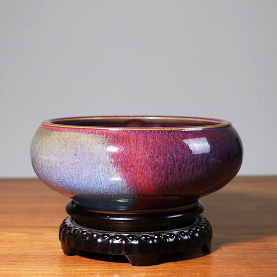 中国钧瓷恢复发展奠基人苗锡锦大师手工作品