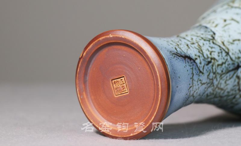 梅瓶 中国传统工艺大师王现锋窑变精品钧瓷梅瓶 钧瓷梅瓶价格【名窑钧瓷网】