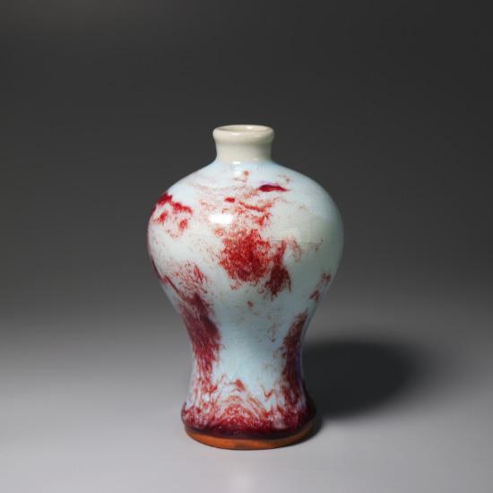 小梅瓶-钧瓷煤烧精品小插花瓶梅瓶