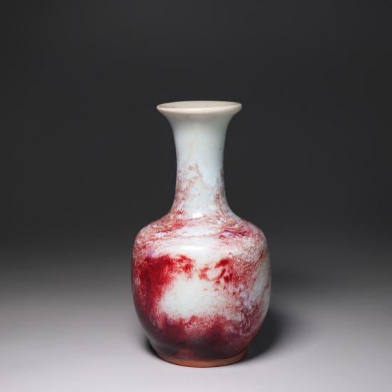 纸槌瓶-精品煤烧钧瓷小花瓶纸槌瓶/小花器