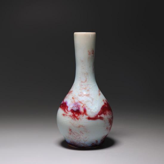 煤烧精品钧瓷小胆瓶/小花瓶/花插