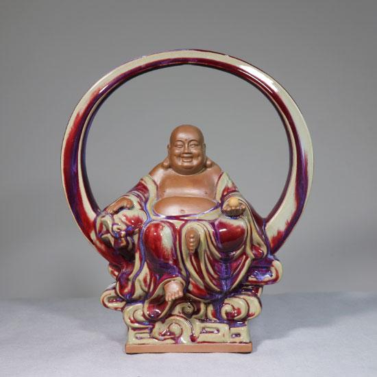 皓月禅心 大宋官窑钧瓷皓月禅心以佛教弥勒佛为造型