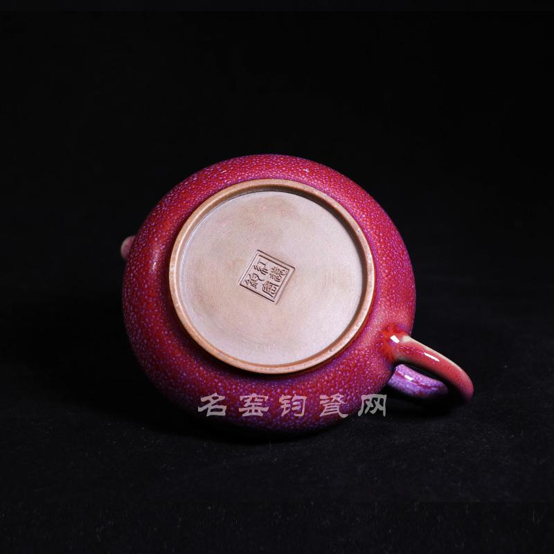 佛珠壶 钧瓷温红远大师精品佛珠壶/钧瓷茶具 钧瓷佛珠壶价格【名窑钧瓷网】