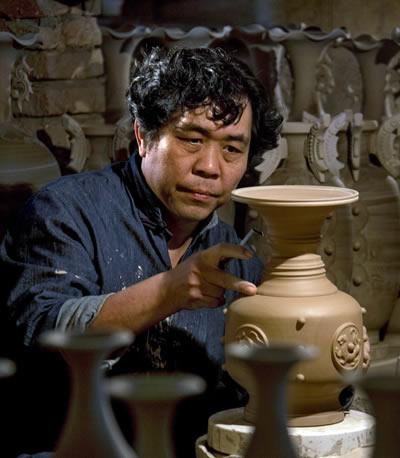 直筒杯 中国工艺美术大师孔相卿手拉坯手签款直筒杯/主人杯 钧瓷直筒杯价格【名窑钧瓷网】