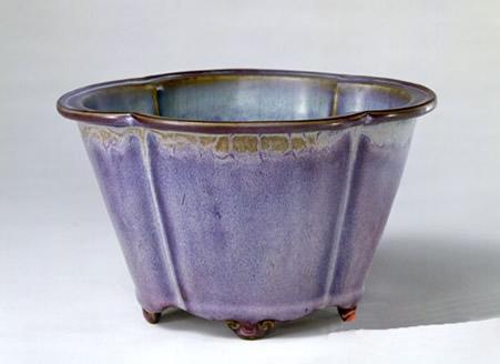 清末钧瓷花盆