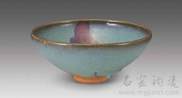 钧窑古瓷碗