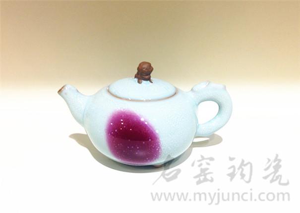 中国钧瓷网狮首壶
