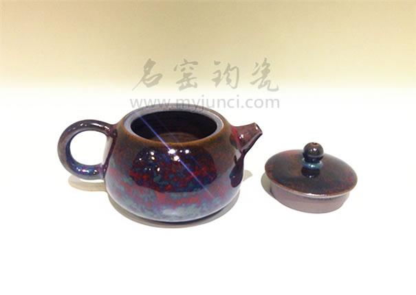 钧瓷茶壶图片