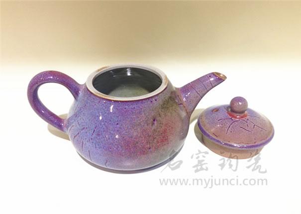 白胜利茶具茶壶茶杯-卢钧壶-名窑钧瓷