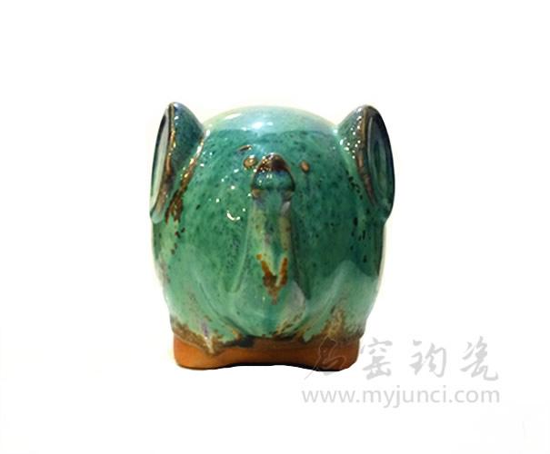 钧瓷储蓄罐-钧瓷猪-钧瓷饰品-名窑钧瓷网
