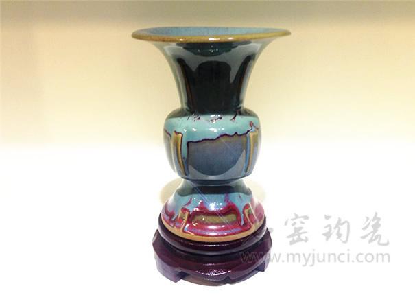 钧瓷出戟尊-钧瓷收藏品-禹州钧瓷网