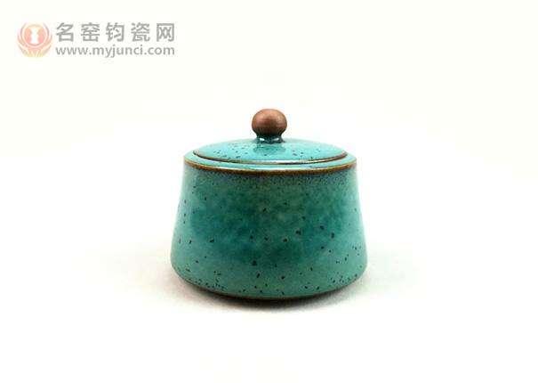 卢钧茶叶罐-白胜利作品-名窑钧瓷网