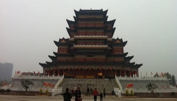 禹州钧瓷文化园-天成阁正面