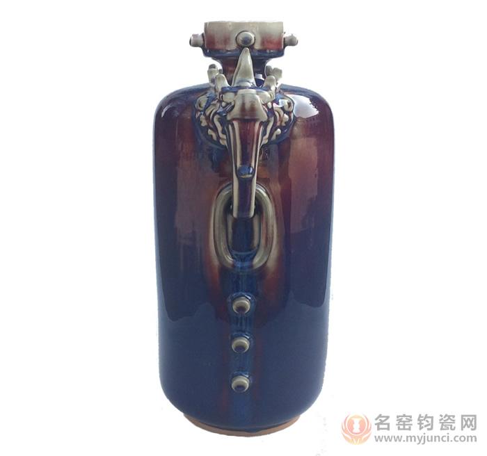 孔家钧瓷祥龙瓶