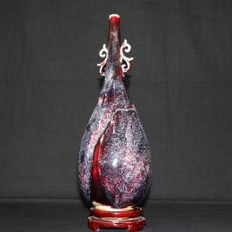 钧瓷云耳瓶(双喜瓶)价格-正玉钧窑云耳瓶(双喜瓶)