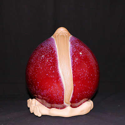 钧瓷福寿桃-寿桃价格-垕彩实业福寿桃-寿桃
