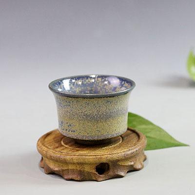 省大师温红远精品手工单杯功夫茶杯/茶叶末釉