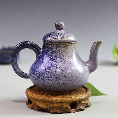省陶瓷艺术大师温红远精品窑变美人肩壶