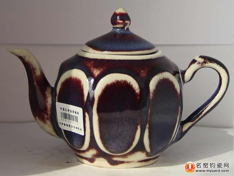 新工艺钧瓷茶壶