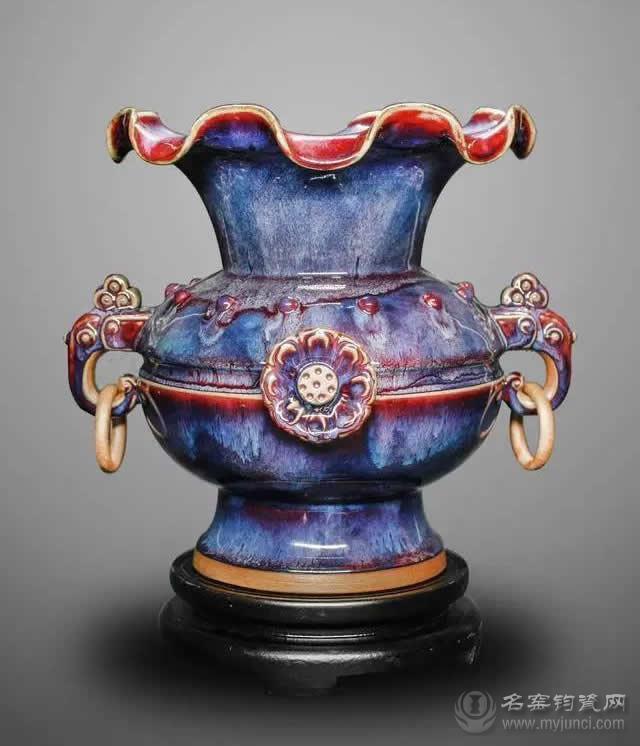 第十三届中国东盟博览会国礼钧瓷《太平有象》-孔家钧窑出品