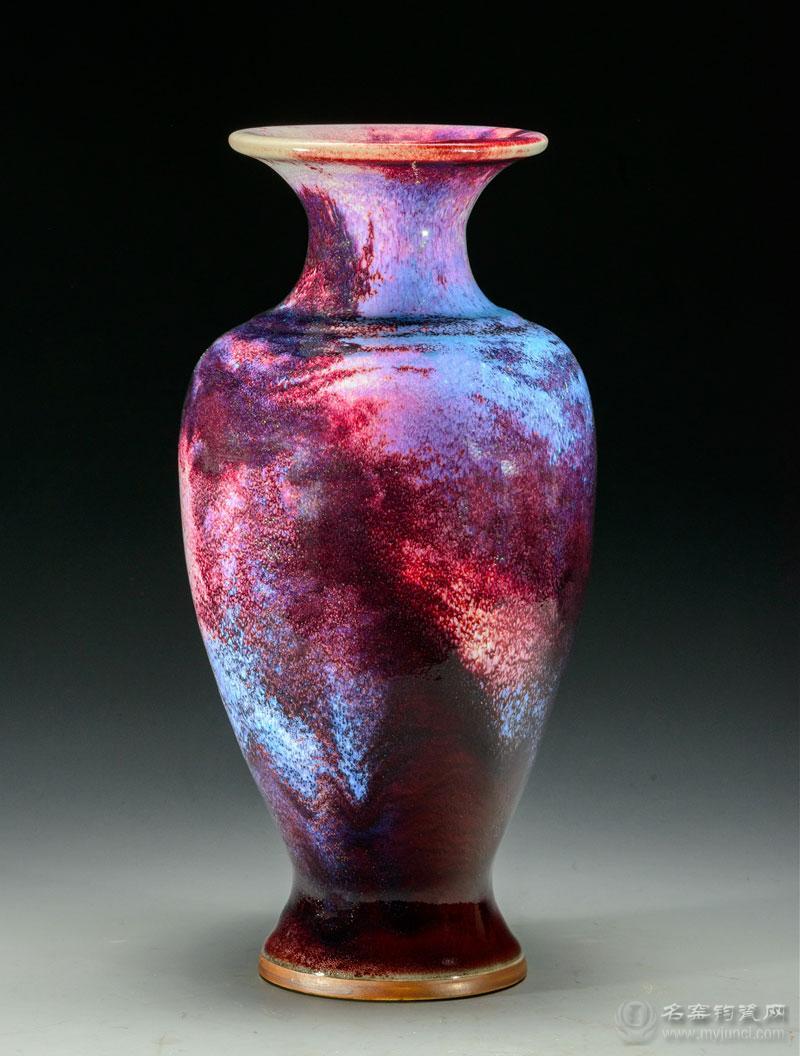 崔松伟煤烧钧瓷作品《观音瓶》